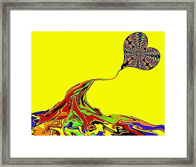 The Big Heart Meltdown Framed Print by Laura Mountainspring
