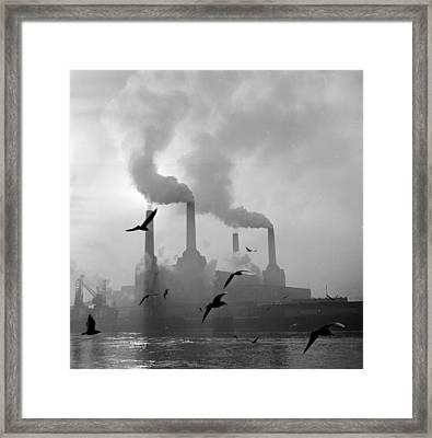 The Big Smoke Framed Print by Central Press