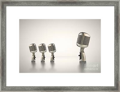 The Big Talk Framed Print by Johan Swanepoel