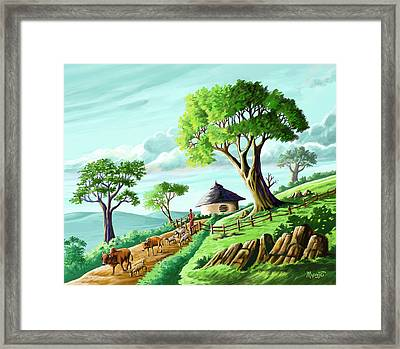 The Big Trees Of Josiah Framed Print by Anthony Mwangi