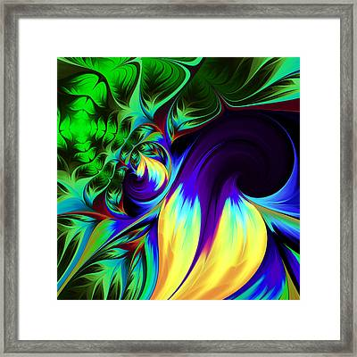 The Birth Of Nature Framed Print by Georgiana Romanovna