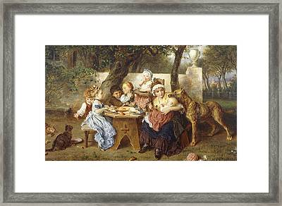 The Birthday Party Framed Print by Ludwig Knaus