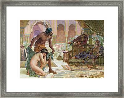 The Bitter Draught Of Slavery Framed Print by Ernest Normand
