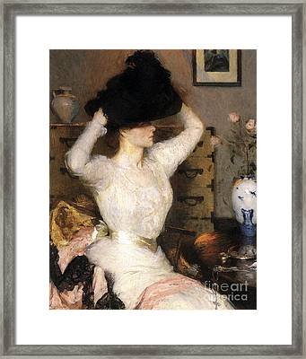The Black Hat By Benson Framed Print by MotionAge Designs