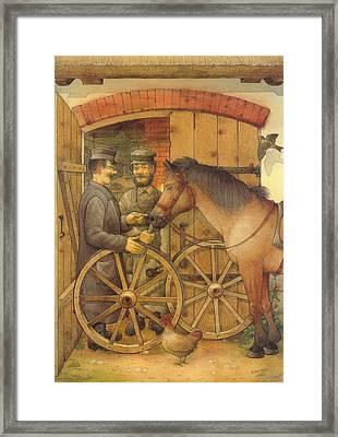 The Blacksmith Framed Print by Kestutis Kasparavicius
