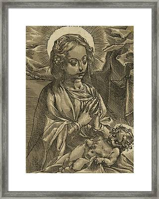The Blessed Virgin Framed Print by Andrea Andreani