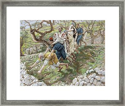 The Blind Leading The Blind Framed Print by Tissot