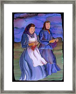 The Blowing Skirts Of Ladies Framed Print by Carolyn Doe