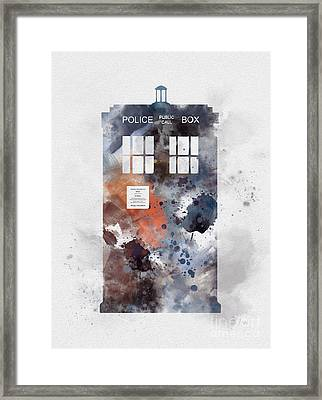 The Blue Box Framed Print by Rebecca Jenkins