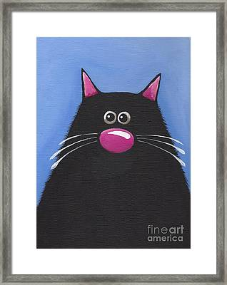 The Blue Cat Framed Print by Lucia Stewart