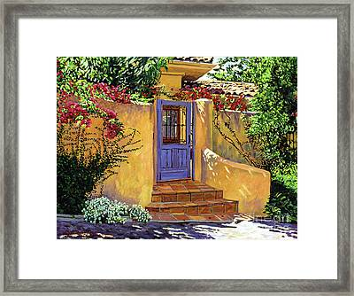 The Blue Door Framed Print by David Lloyd Glover