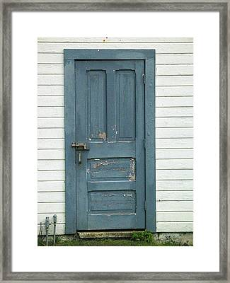 The Blue Door Framed Print by Mg Blackstock