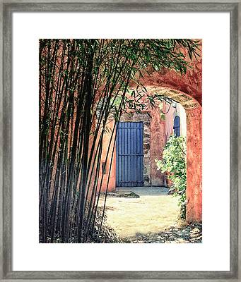 The Blue Door Framed Print by Sharyn Warner