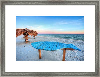 The Blue Fish Framed Print by JC Findley
