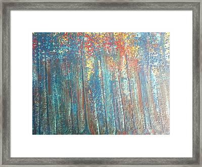 The Blue Forest Framed Print by Pradeep Gupta