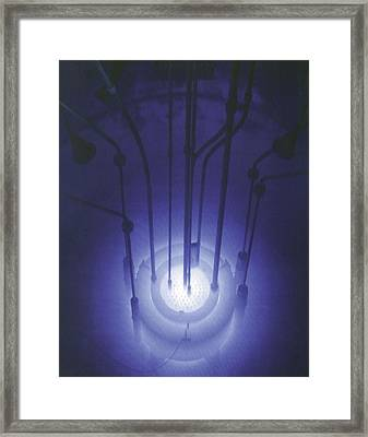 The Blue Glow Of Nuclear Reactors Framed Print by Everett