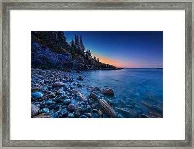The Blue Hour On Little Hunter's Beach Framed Print by Rick Berk