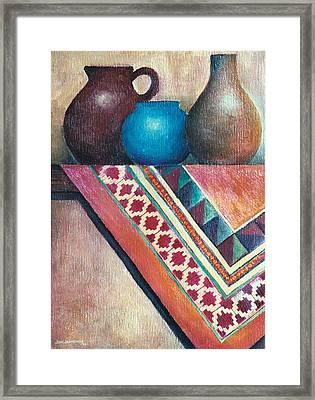 The Blue Jar IIi Framed Print by Jun Jamosmos