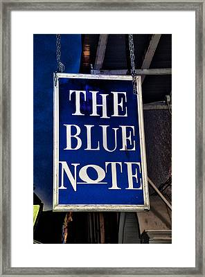 The Blue Note - Bourbon Street Framed Print by Bill Cannon