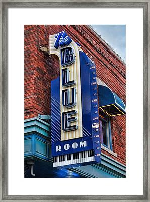 The Blue Room Sign Framed Print by Steven Bateson