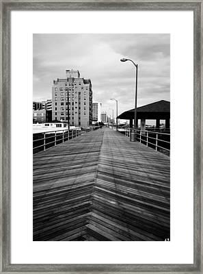 The Boardwalk Framed Print by Linda Sannuti