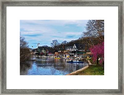 The Boat House Row Framed Print by Bill Cannon