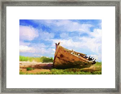 The Boat Framed Print by Michael Greenaway