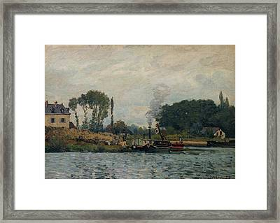 The Boat Near Bougival Framed Print by MotionAge Designs