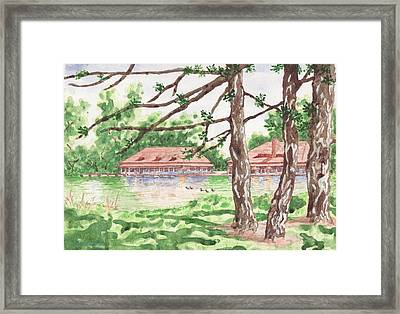 The Boathouse At Forest Park Framed Print by Bill Torrington