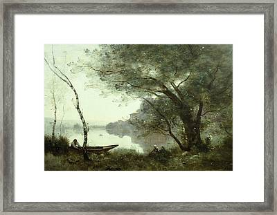 The Boatman Of Mortefontaine Framed Print by Jean-Baptiste-Camille Corot