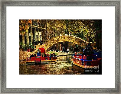 The Boats Framed Print by Iris Greenwell