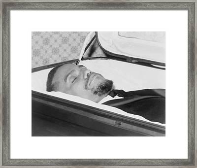 The Body Of Malcolm X, Slain Negro Framed Print by Everett