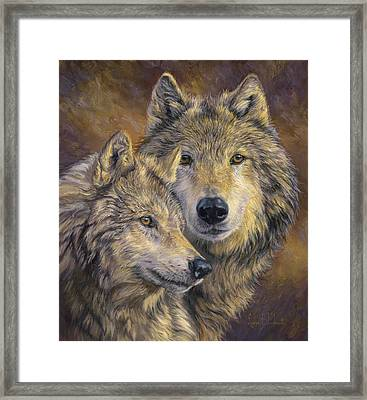 The Bond Framed Print by Lucie Bilodeau