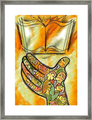 The Book And The Reader Framed Print by Leon Zernitsky
