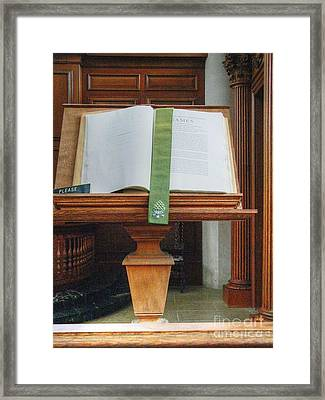 The Book Of James Framed Print by David Bearden