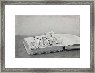 The Book Of Love Framed Print by Kim Hojnacki