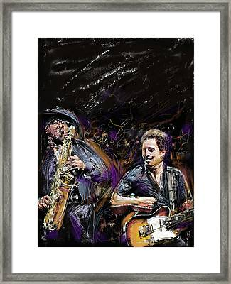 The Boss And The Big Man Framed Print by Russell Pierce