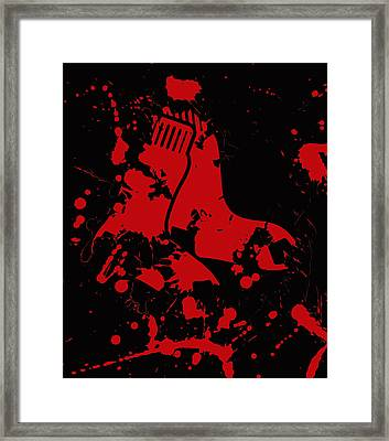 The Boston Red Sox 1b Framed Print by Brian Reaves