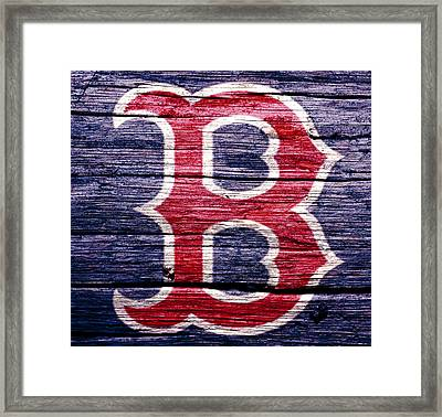 The Boston Red Sox 2b Framed Print by Brian Reaves
