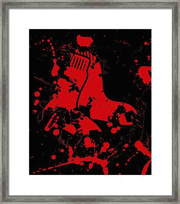 The Boston Red Sox 2d Framed Print by Brian Reaves