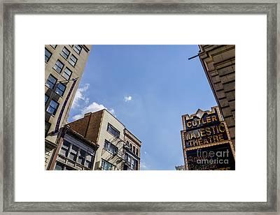 The Boston Sky View Framed Print by Alanna DPhoto