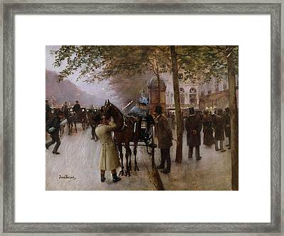 The Boulevards Framed Print by Jean Beraud