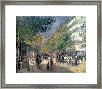 The Boulevards  Framed Print by Pierre Auguste Renoir