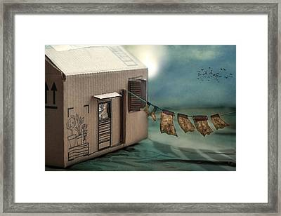 The Box That Was A House Framed Print by Maggie Terlecki