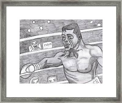 the Boxer Framed Print by Richard Heyman