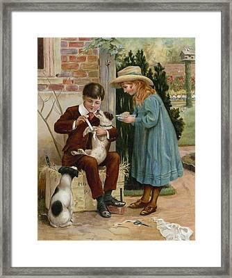 The Boy Doctor Framed Print by English School