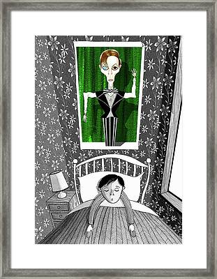 The Boy Who Dreamed Of David Bowie  Framed Print by Andrew Hitchen