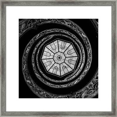 The Bramante Staircase Framed Print by Erik Brede