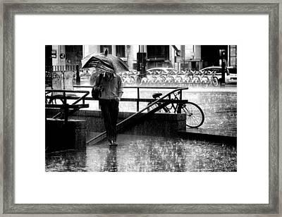 The Brave Smoker Framed Print by Diego Bardone