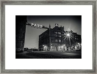 The Brewery Framed Print by CJ Schmit